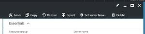 set Firewall Azure option